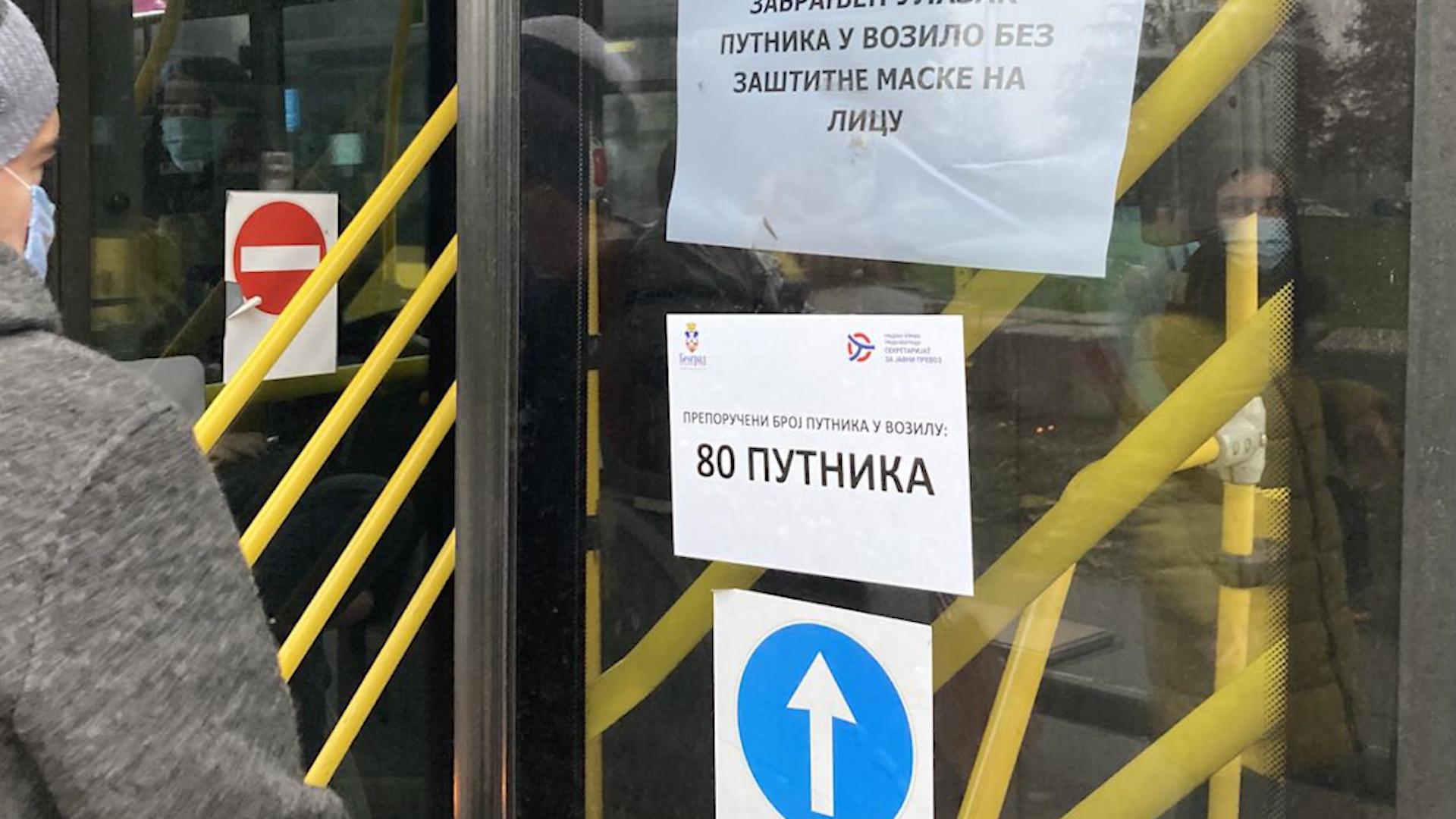 Da li se poštuju mere u gradskom prevozu u Beogradu?
