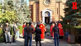 Opelo na sahrani Marka Živića na Novom groblju u Beogradu