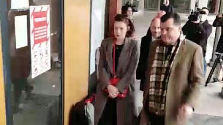 Glumica Milena Radulović stiže u sud