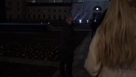 Zamenik gradonačelnika Goran Vesić pred početak ceremonije otkrivanja spomenika Stefanu Nemanji