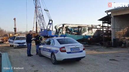 Mesto pogibije radnika u Batajnici