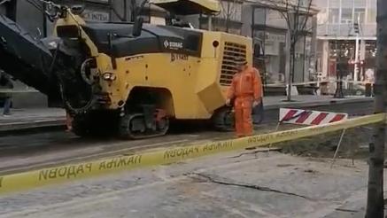 A U GRADU KOLAPS: Završavaju se radovi u ulici Kralja Milana nakon jutrošnjeg pucanja cevi