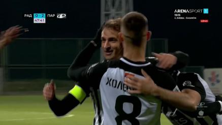 Treći gol Partizana protiv Rada
