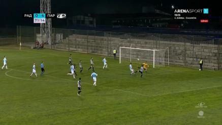 Peti gol Partizana protiv Rada