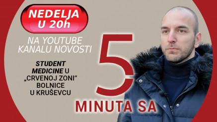 """UMESTO U AMFITEATRU STUDIRA U """"CRVENOJ ZONI"""" Nova epozoda """"5 minuta..."""" na jutjub kanalu Novosti"""