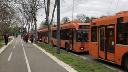 Zastoj trola kod Muzeja Jugoslavije