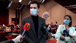 Miloš Biković na dodeli Nagrade grada Beograda