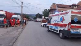 Situacija na ulicama Čačka, hitne službe na terenu