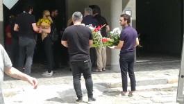 Stevan Anđelković na sahrani Novice Zdravkovića