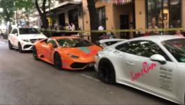 Izložba luksuznih automobila na Slaviji