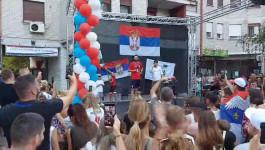 Doček Dejana Majstorovića u Starim Banovcima